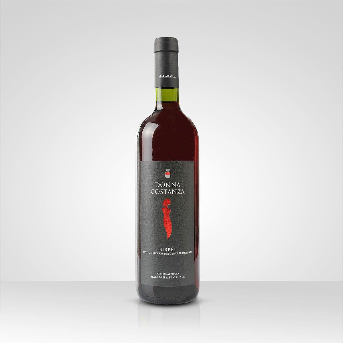 Birbet Donna Costanza, mosto d'uva parzialmente fermentato, azienda agricola Malabaila, Canale